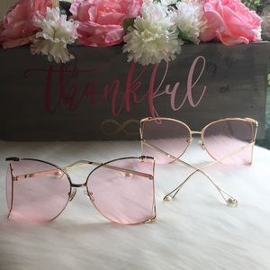 Accessories - 2 for $30 Oversized Butterfly Pearl Sunglasses